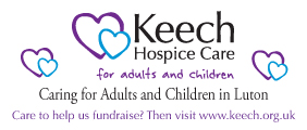 Keech Hospice Care cares for adults living in Luton and South Bedfordshire and children from across Bedfordshire, Hertfordshire and Milton Keynes.